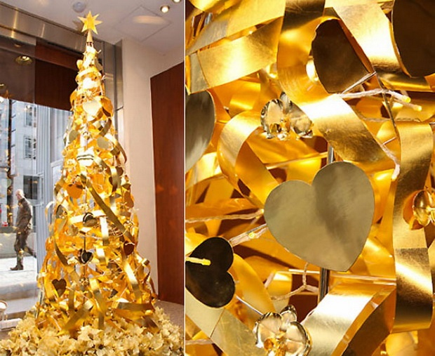 Worlds Most Expensive Christmas Tree sparkles in Ginza Tanaka jewelry store Tokyo